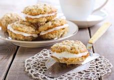 Oat sandwich cookies Royalty Free Stock Image