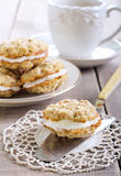 Oat sandwich cookies Royalty Free Stock Images