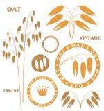 Oat. Set. Isolated objects on white background. Vector illustration (EPS 10 Stock Photography