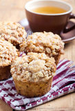 Oat streusel muffins Royalty Free Stock Photography