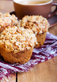 Oat streusel muffins Stock Photo