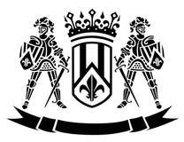 ?oat van wapens met ridders Royalty-vrije Stock Afbeeldingen