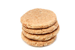 Oat wheat biscuit Stock Photo