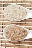 Oat and wheat bran Royalty Free Stock Photography