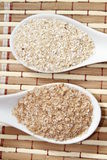 Oat and wheat bran Royalty Free Stock Photos