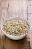 Oat on white bowl Royalty Free Stock Image