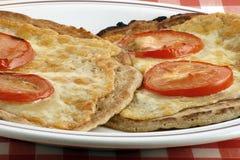 Oatcakes e formaggio Immagine Stock