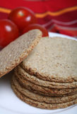 Oatcakes on plate Stock Photo