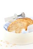 Oatcakes in una casella fotografie stock libere da diritti