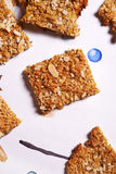 Oatflakes biscuits Stock Photos