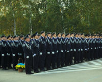 Oath of allegiance to the young police, of the Ukrainian people Royalty Free Stock Images