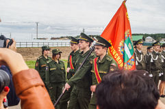 The oath of cadets of the cadet classes in the Kaluga region of Russia on 10 September 2016. Royalty Free Stock Images