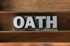 Oath word tray Royalty Free Stock Image