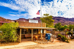 Oatman Historic US Post Office in Arizona, United States. The colorful picture shows the post office located at famous Route 66. Oatman Historic US Post Office Royalty Free Stock Photos