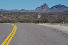 Oatman Road on Arizona. USA royalty free stock photography