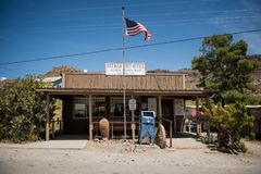 The City of Oatman on Route 66 in Arizona stock image