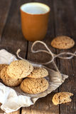 oatmeal γάλακτος μπισκότων Στοκ Εικόνες