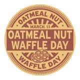 Oatmeal ημέρα βαφλών καρυδιών Στοκ φωτογραφία με δικαίωμα ελεύθερης χρήσης