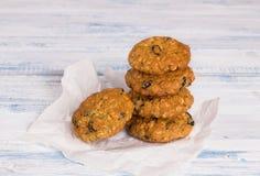 Oatmeal διατροφής μπισκότα Στοκ Εικόνα