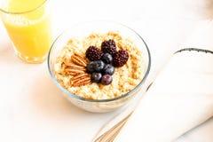 Oatmeal και νωπών καρπών πρόγευμα  υγιής έννοια κατανάλωσης στοκ φωτογραφίες με δικαίωμα ελεύθερης χρήσης