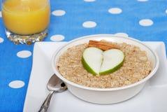 oatmeal κανέλας μήλων Στοκ φωτογραφία με δικαίωμα ελεύθερης χρήσης