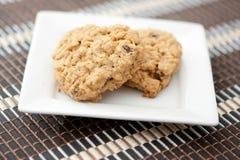 oatmeal καρδιών μπισκότων που δι&a Στοκ φωτογραφίες με δικαίωμα ελεύθερης χρήσης