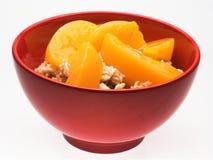 oatmeal κύπελλων ροδάκινα Στοκ Εικόνες