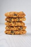 Oatmeal μπισκότα σταφίδων Στοκ Φωτογραφίες