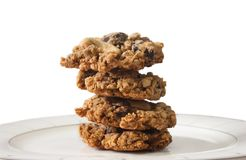 Oatmeal μπισκότο τσιπ σοκολάτας Στοκ Εικόνες