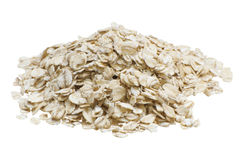 Oatmeal, που απομονώνεται στο άσπρο υπόβαθρο στοκ φωτογραφίες