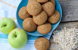 Oatmeal πράσινο oatmeal της Apple μπισκότων Στοκ φωτογραφία με δικαίωμα ελεύθερης χρήσης