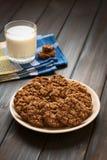 Oatmeal σοκολάτας μπισκότο Στοκ Φωτογραφία