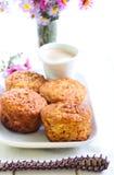 Oatmeal της Apple muffins Στοκ φωτογραφία με δικαίωμα ελεύθερης χρήσης