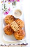 Oatmeal της Apple muffins Στοκ Φωτογραφία