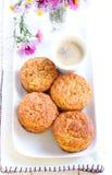 Oatmeal της Apple muffins Στοκ Εικόνες