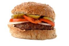 oatmeal бургера говядины домодельный стоковое изображение
