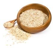 Oatmeal в деревянном шаре Стоковые Фото