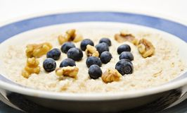 oatmeal голубик стоковая фотография