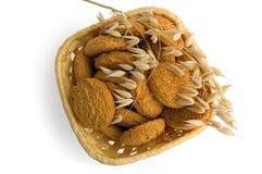 oatmeal печений корзины Стоковые Изображения RF