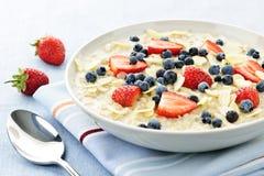 oatmeal шара ягод стоковые фотографии rf