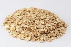 Oatmeal. The Closeup of raw  oatmeal Stock Image