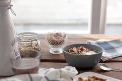 oatmeal Arkivbild