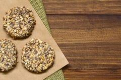 Μπισκότα μπανανών και Oatmeal Στοκ Εικόνες