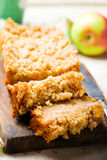 Oatmeal Apple Coffee Cake Stock Photos