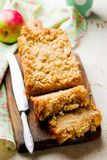 Oatmeal Apple Coffee Cake. Selective focus Royalty Free Stock Photography