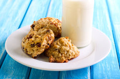 Oatmeal applesauce cookies Royalty Free Stock Images
