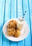 Oatmeal applesauce cookies Stock Image