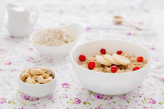 Oatmeal with banana and cinnamon. Royalty Free Stock Photos