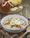 Oatmeal with bananas Royalty Free Stock Photos