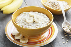 Oatmeal with bananas Royalty Free Stock Image
